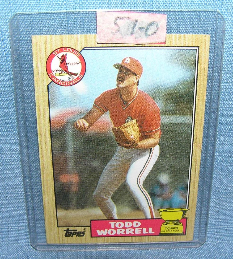 Todd Worrell rookie baseball card