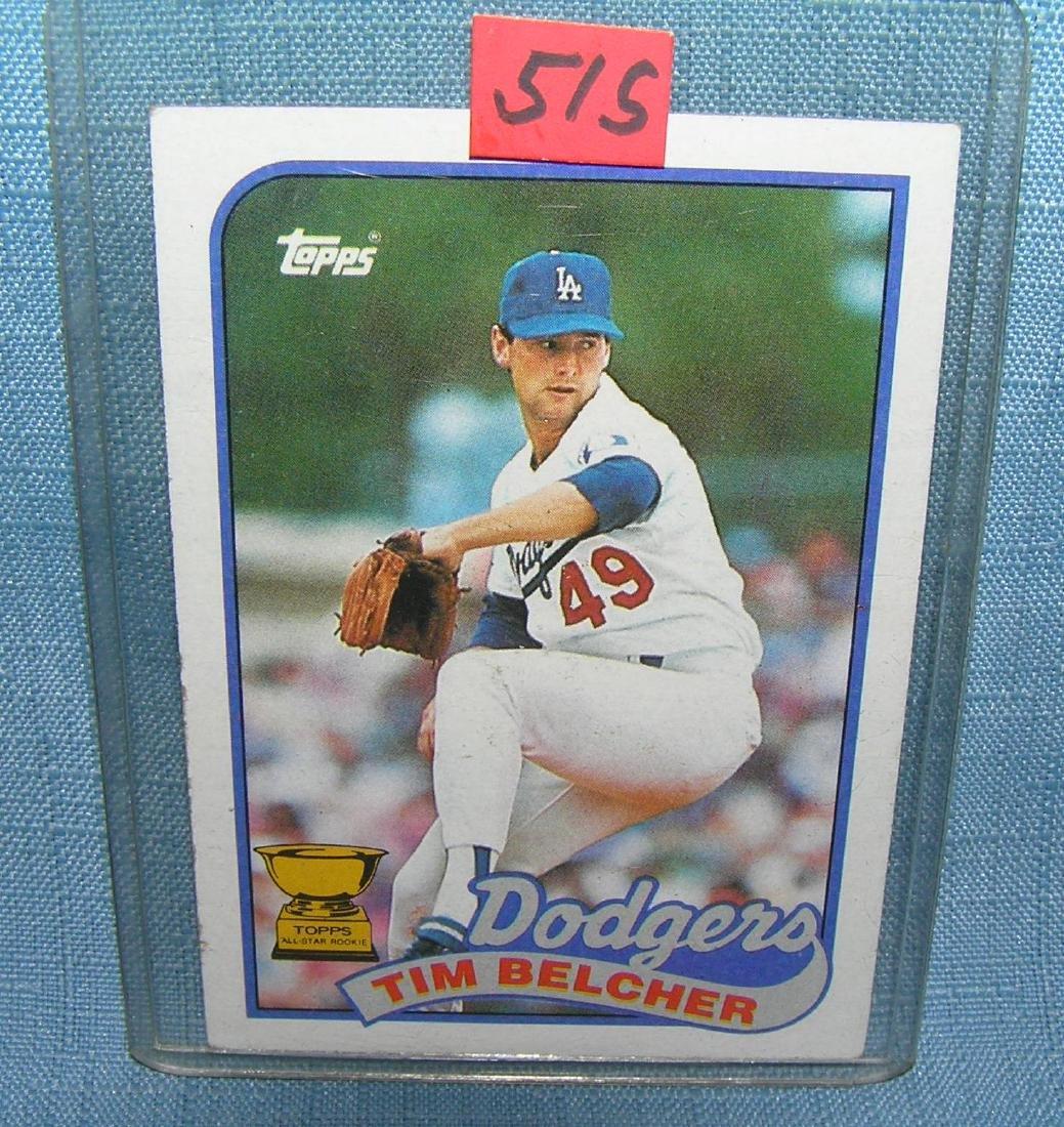 Tim Belcher rookie baseball card