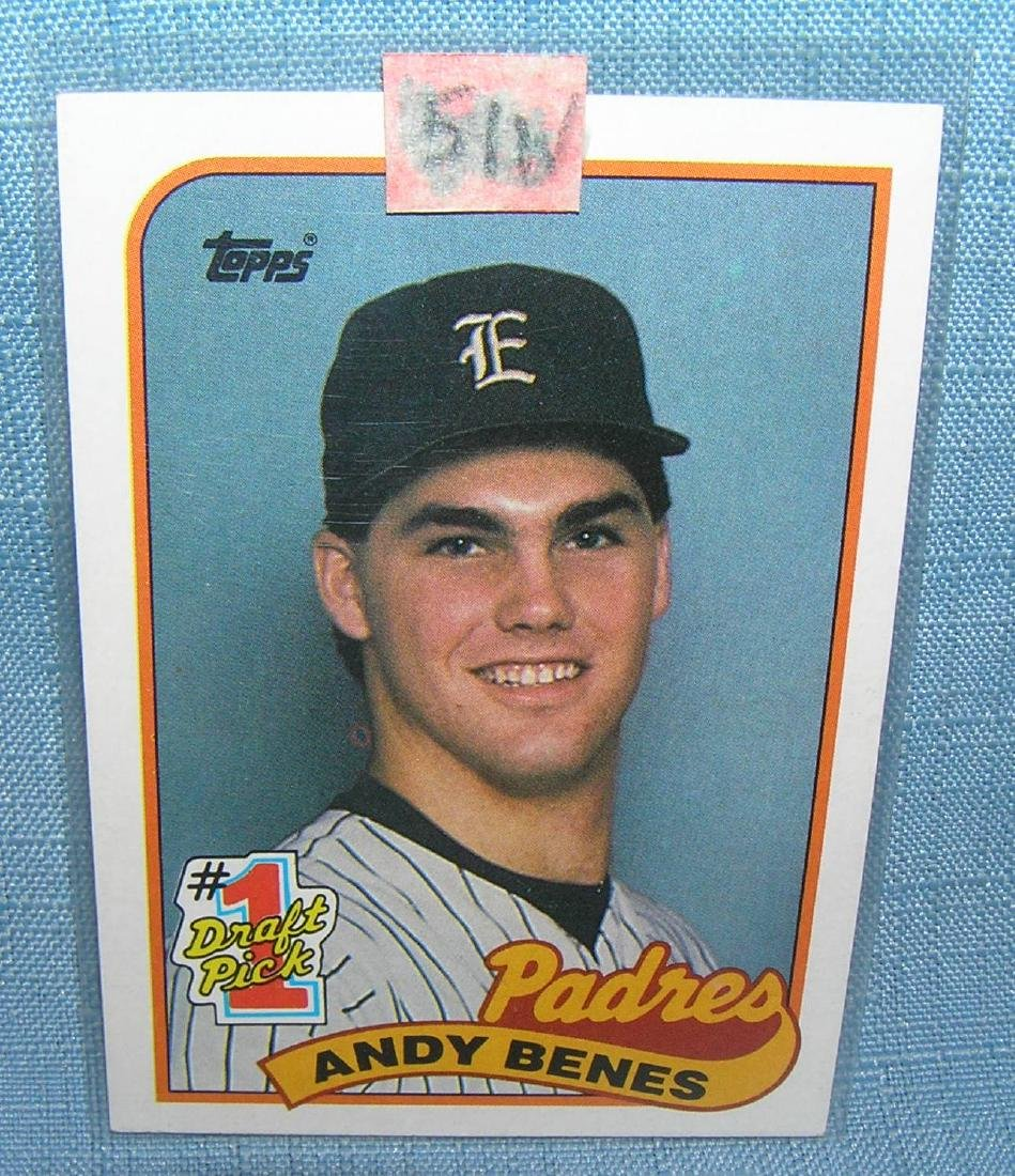 Andy Benes rookie baseball card