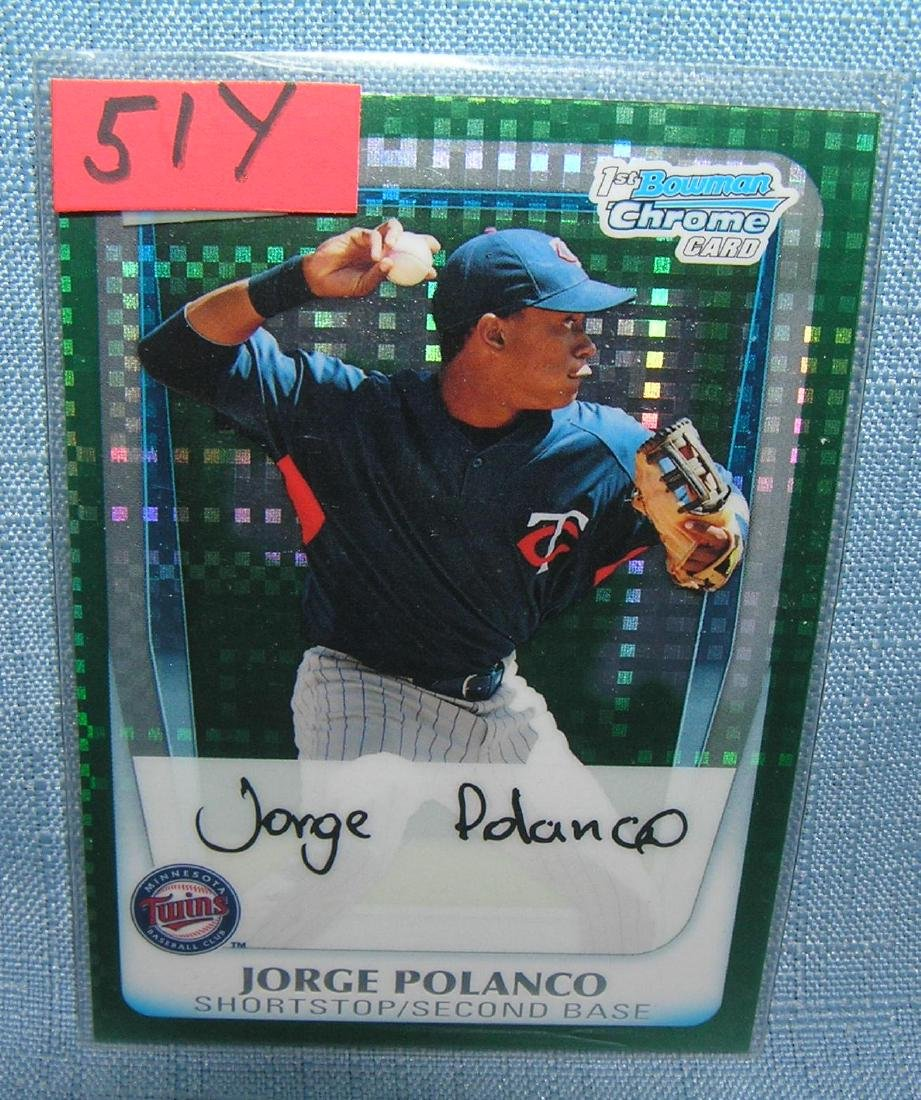 Jorge Polanco rookie baseball card