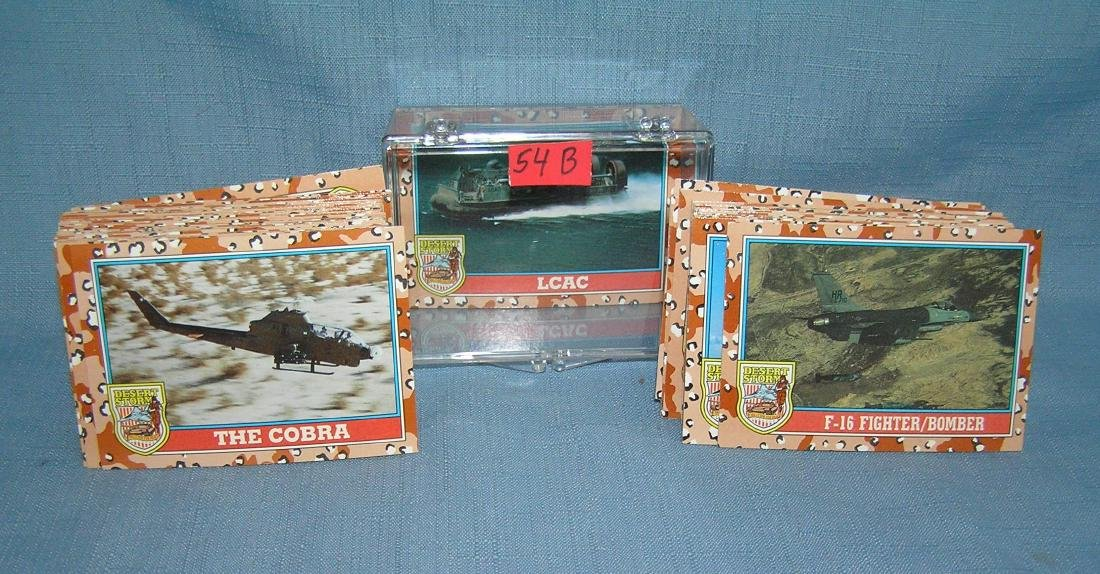 Collection of Desert Storm cards by Topps