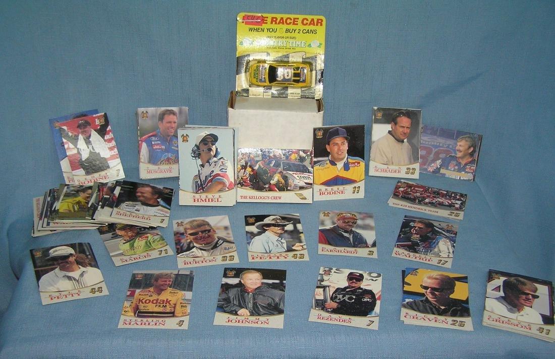 Collection of NASCAR collector cards