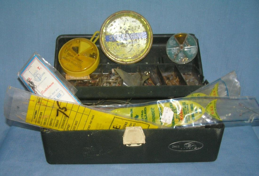 Tackle box with assorted tackle