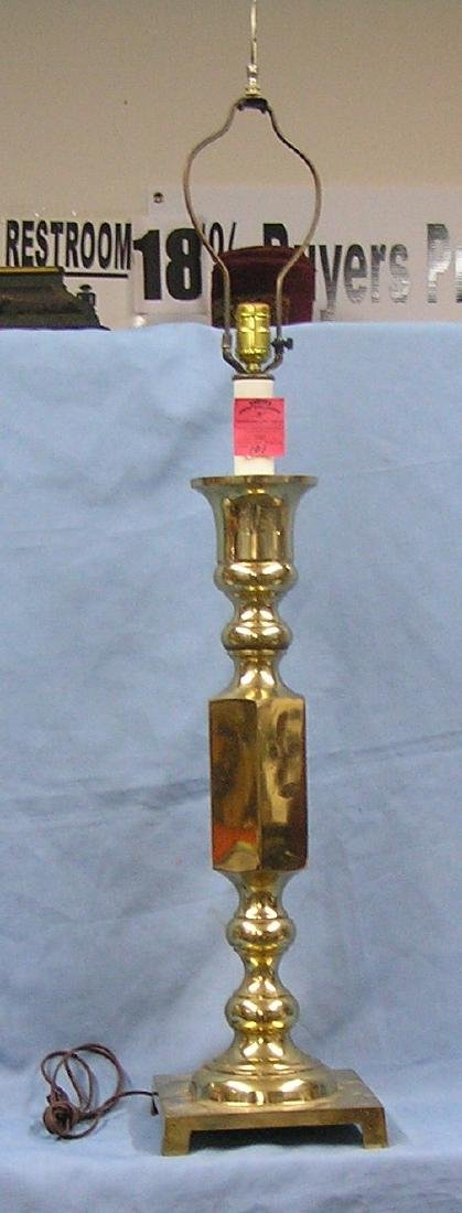 Large vintage solid brass table lamp
