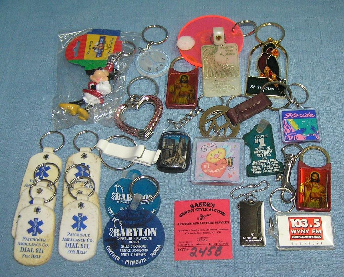Collection of vintage key chains