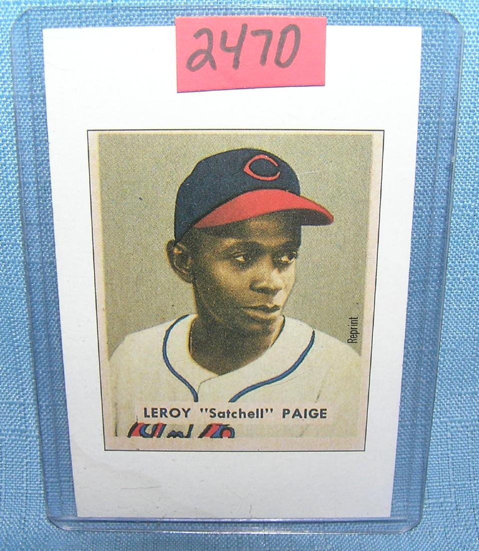 Satchell Paige Bowman reprint Baseball card