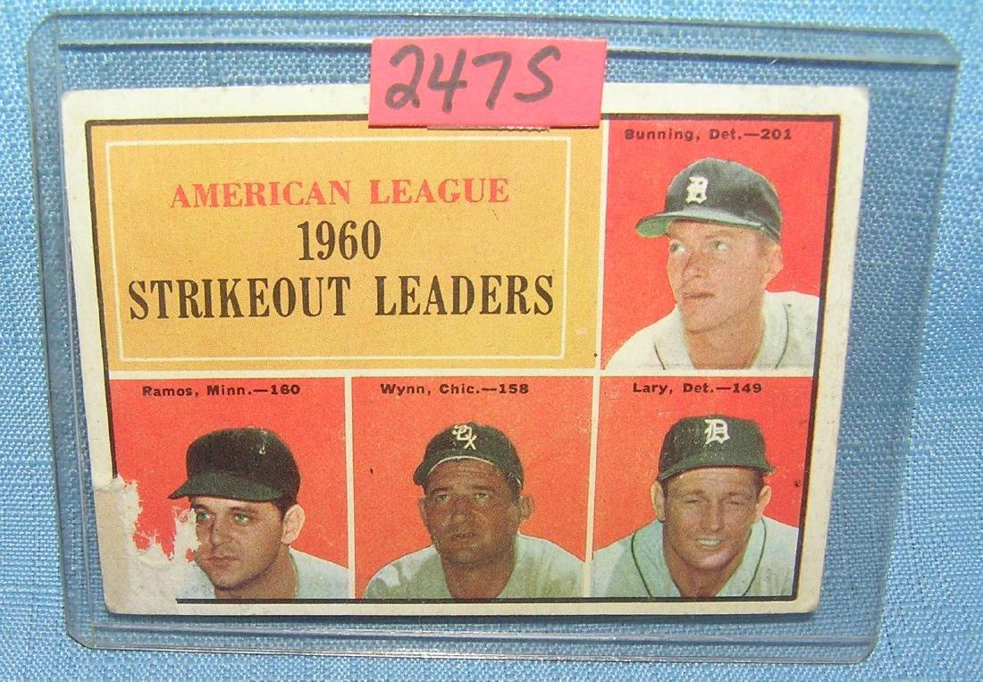American League 1960's strike out leaders Baseball card