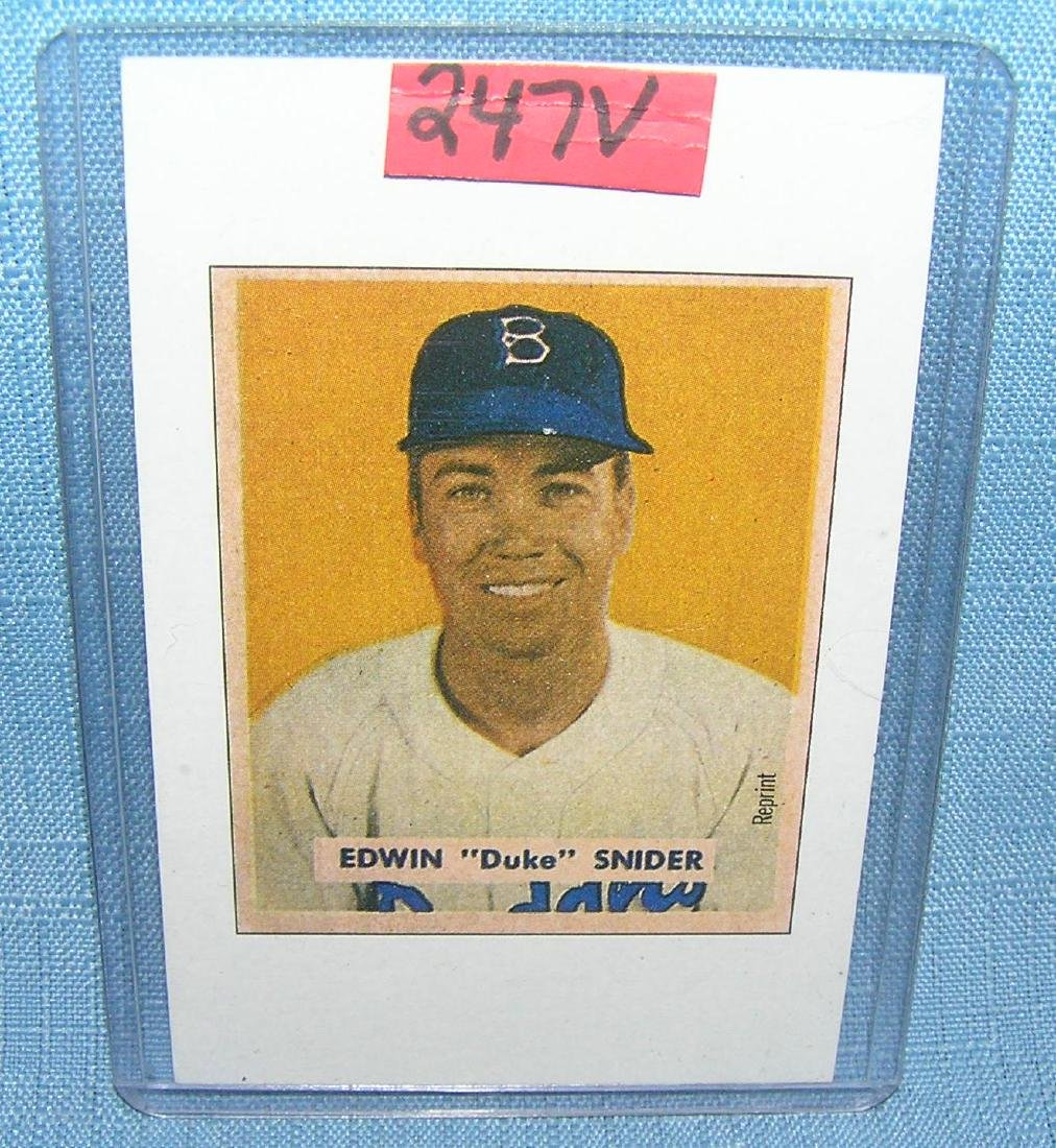 Duke Snider  Bowman reprint Baseball card