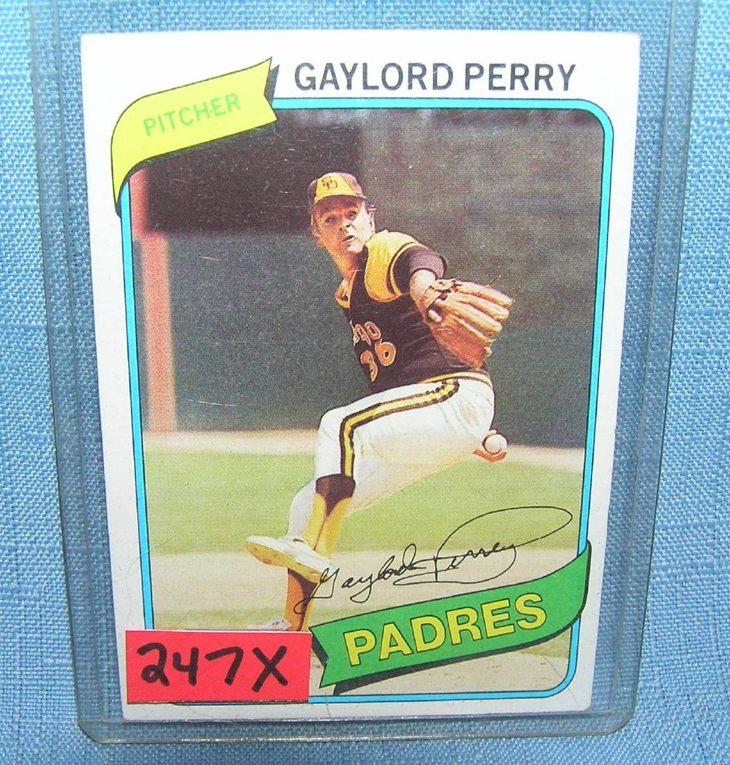 Gaylord Perry Baseball card
