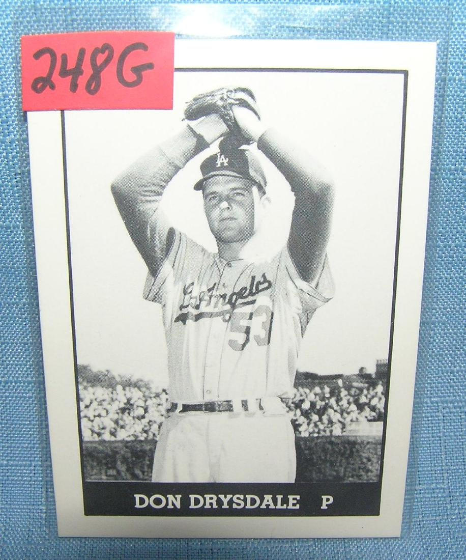 Don Drysdale Baseball card