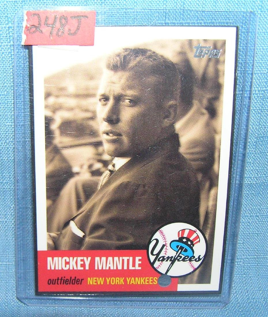 Mickey Mantle Topps reprint all star baseball card
