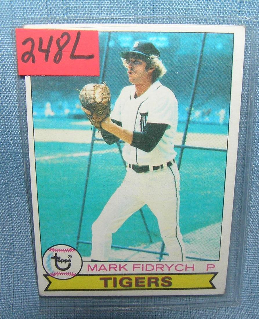 "Mark ""The Bird"" Fidrych Baseball card"