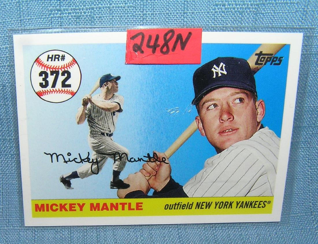 Mickey Mantle all star baseball card