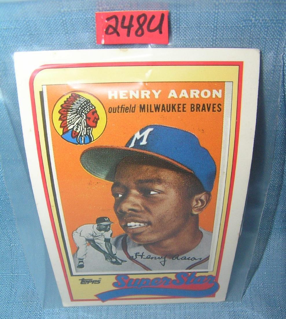 Hank Aaron oversized all star baseball card
