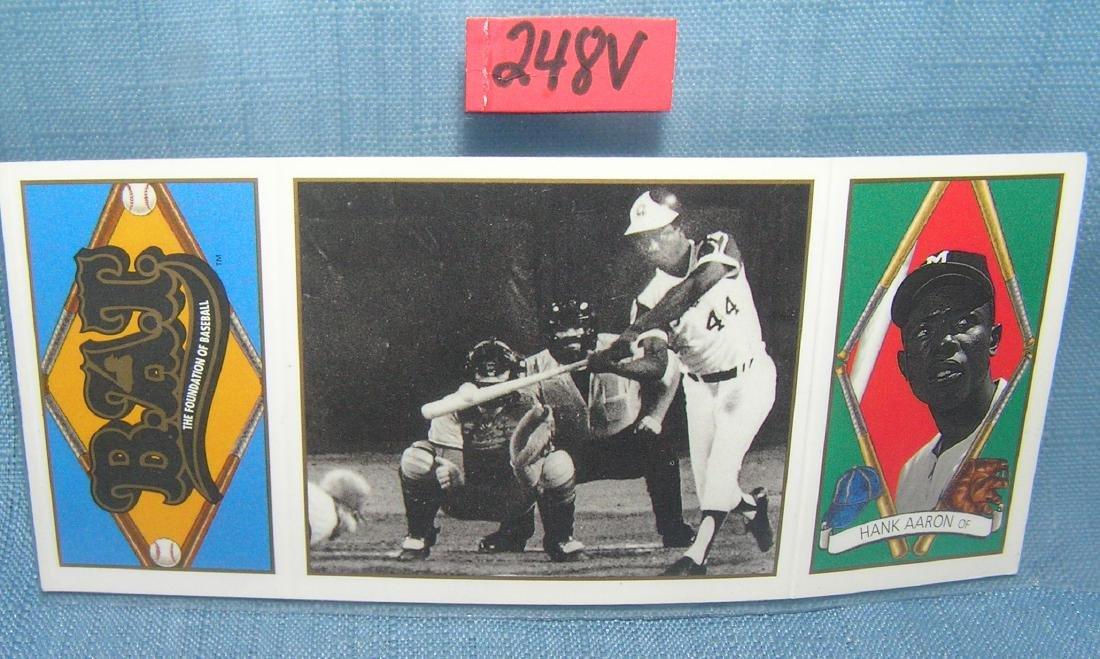 Hank Aaron vintage style all star baseball card