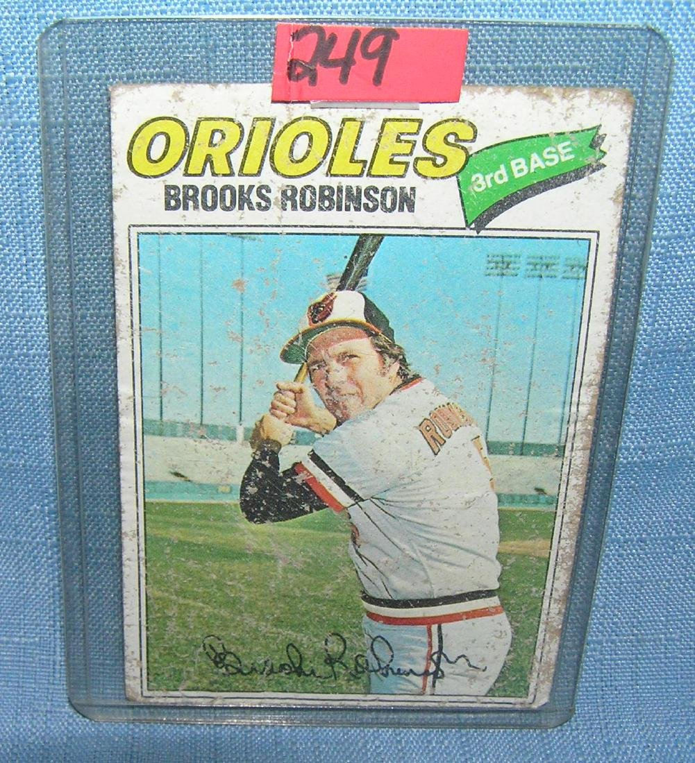 Brooks Robinson all star baseball card
