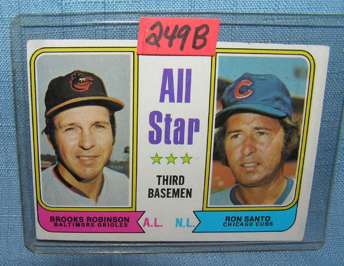 Brooks Robinson and Ron Santo all star baseball card