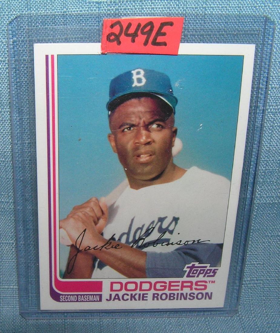 Jackie Robinson retro all star baseball card