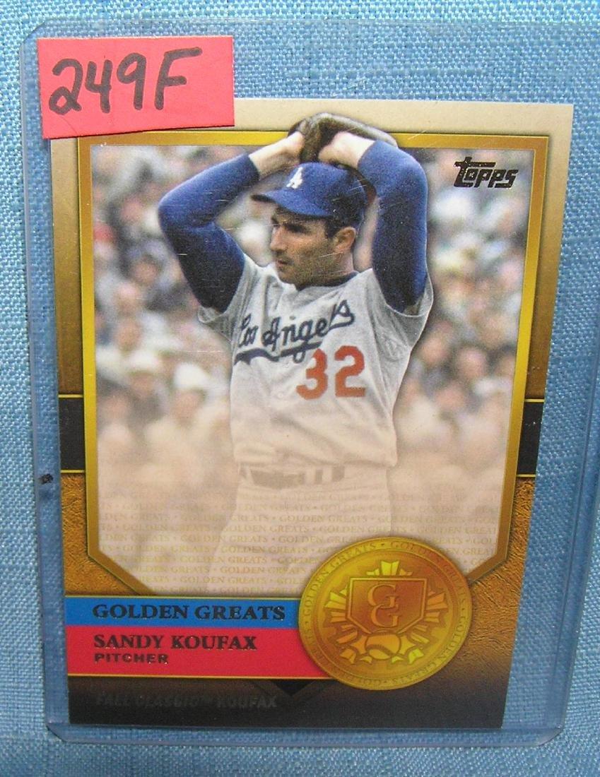 Sandy Kofax golden greats all star baseball card