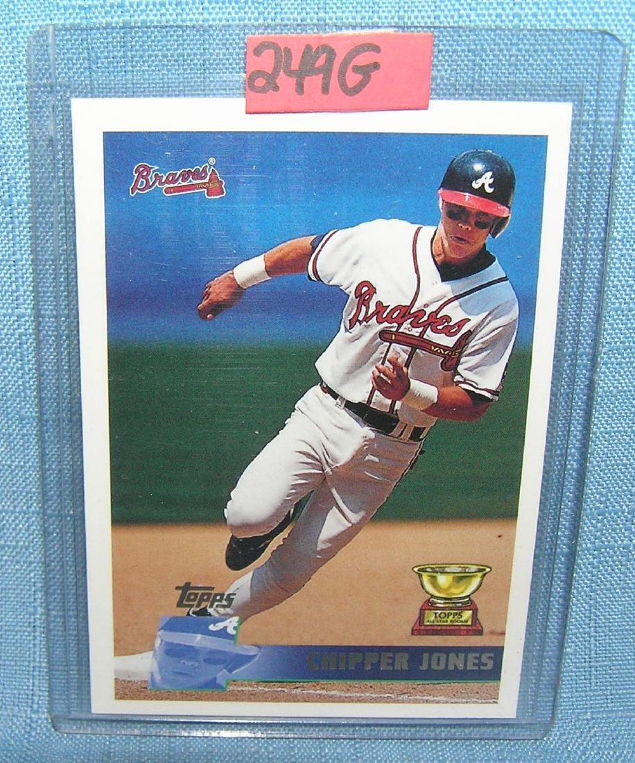 Chipper Jones 2nd year all star rookie baseball card