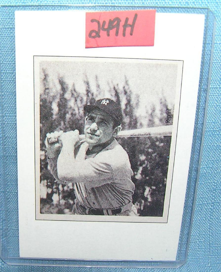 Yogi Berra all star baseball card