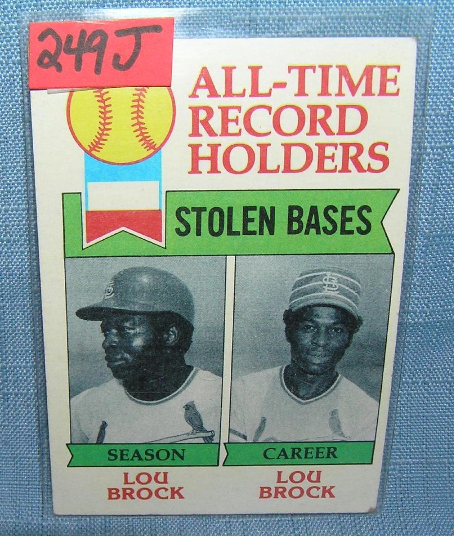 Lou Brock all time record holder all star baseball card