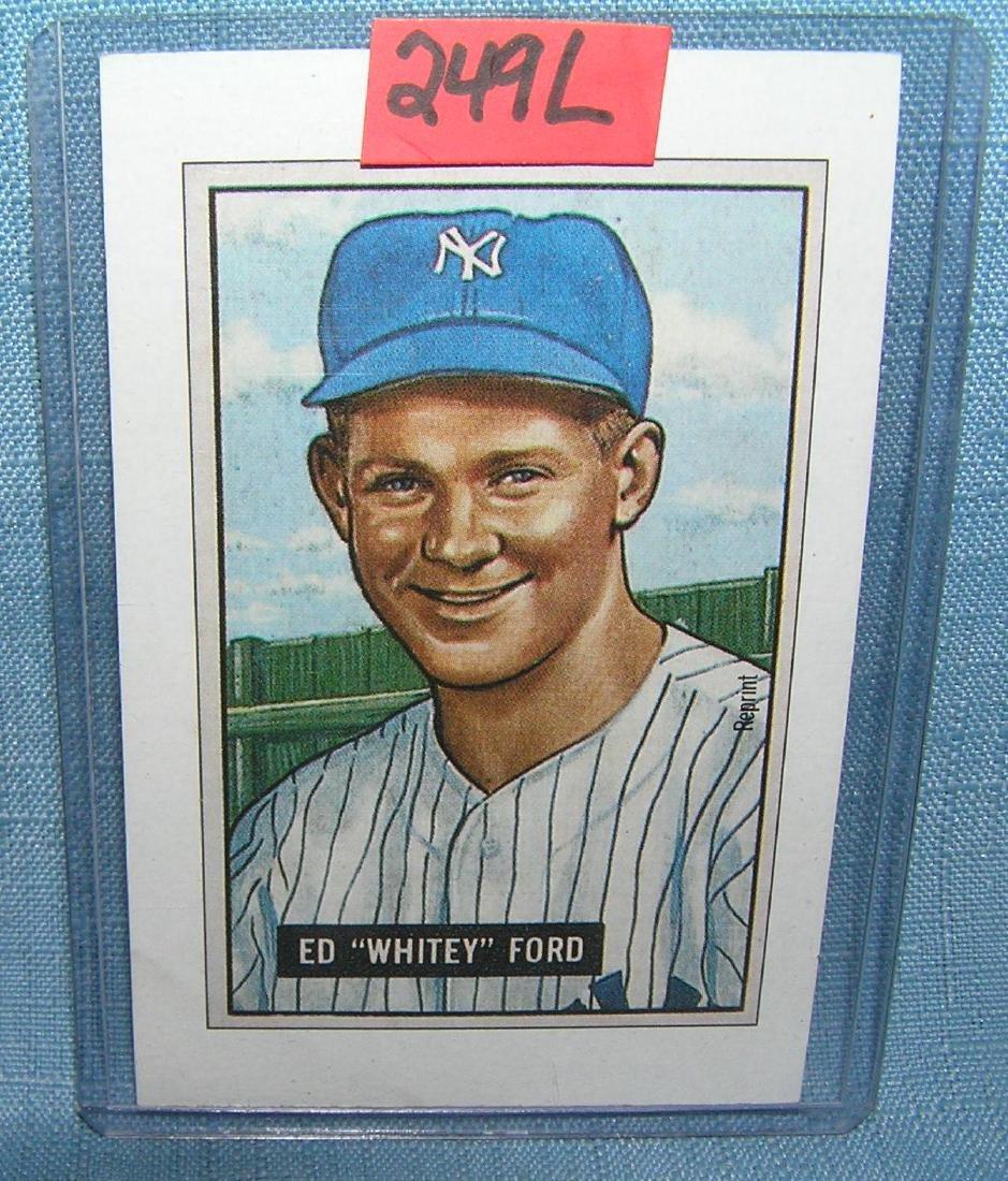 Whitey Ford all star baseball card