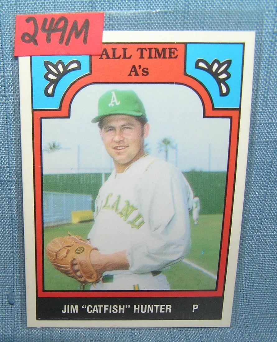 Jim Catfish Hunter all star baseball card