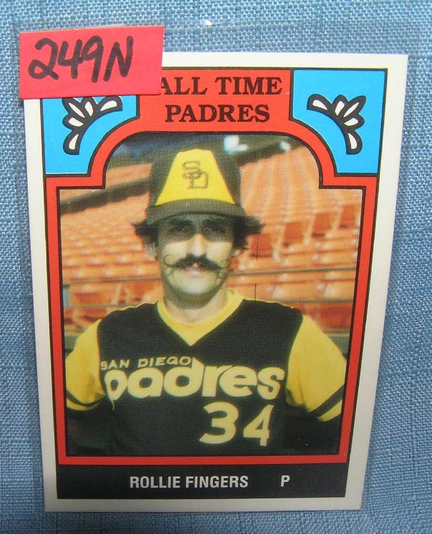 Rollie Fingers all star baseball card