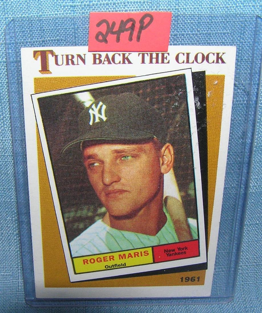 Roger Maris turn back the clock all star baseball card