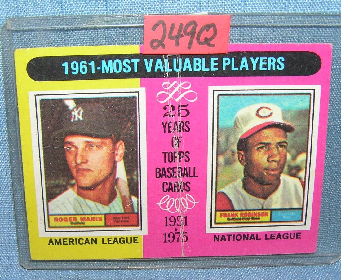 Roger Maris and Frankie Robinson all star baseball card