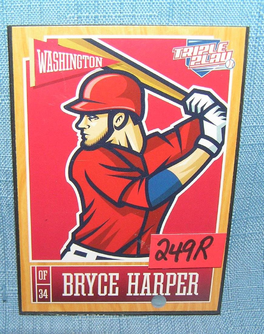 Bryce Harper all star baseball card