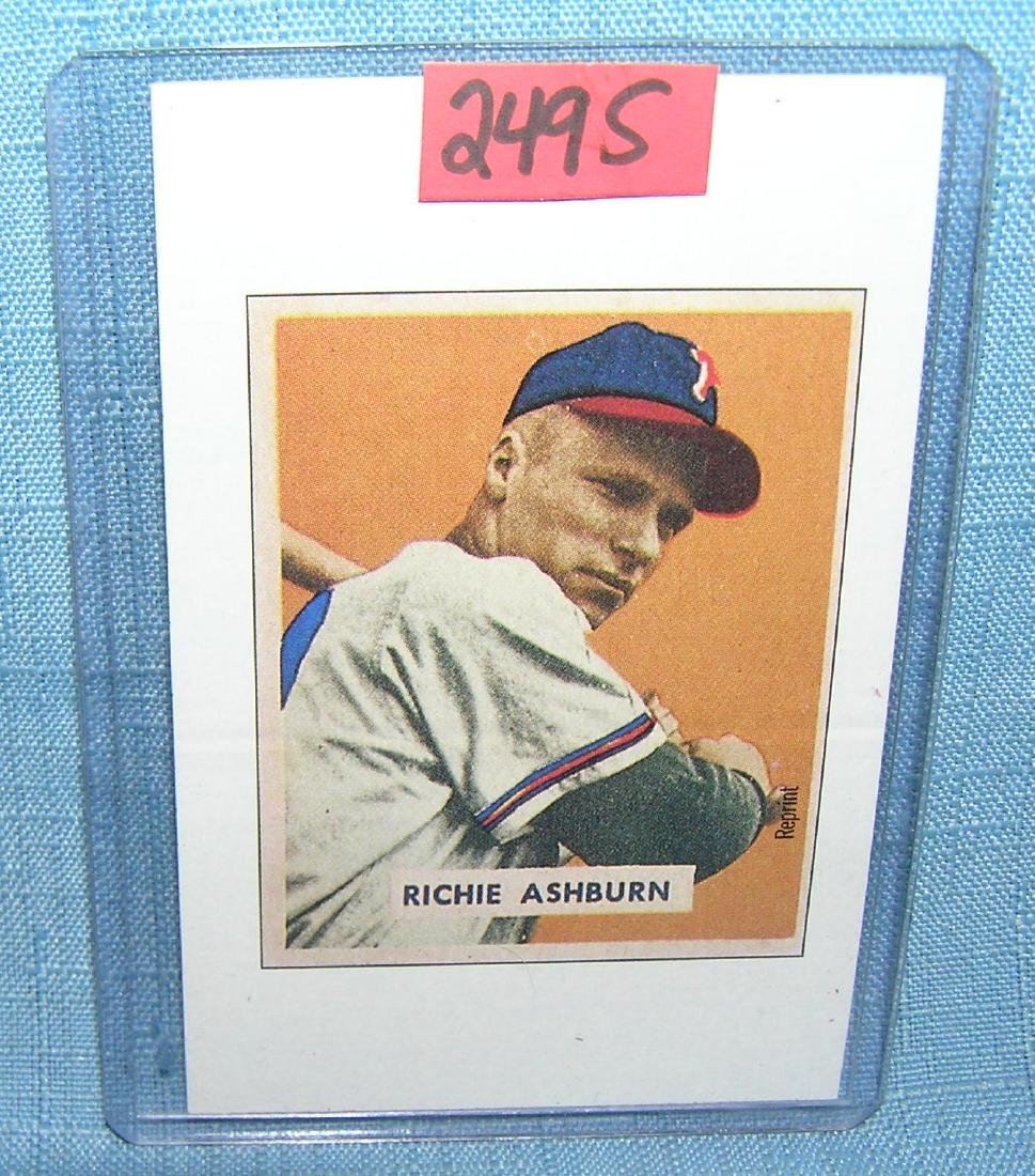 Richie Ashburn  Bowman reprint all star baseball card