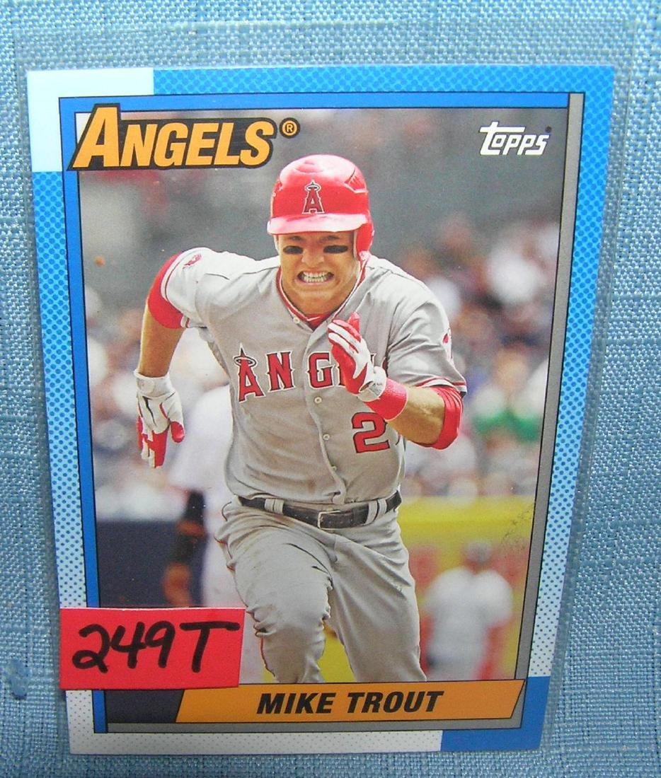 Mike Trout 2nd year all star baseball card