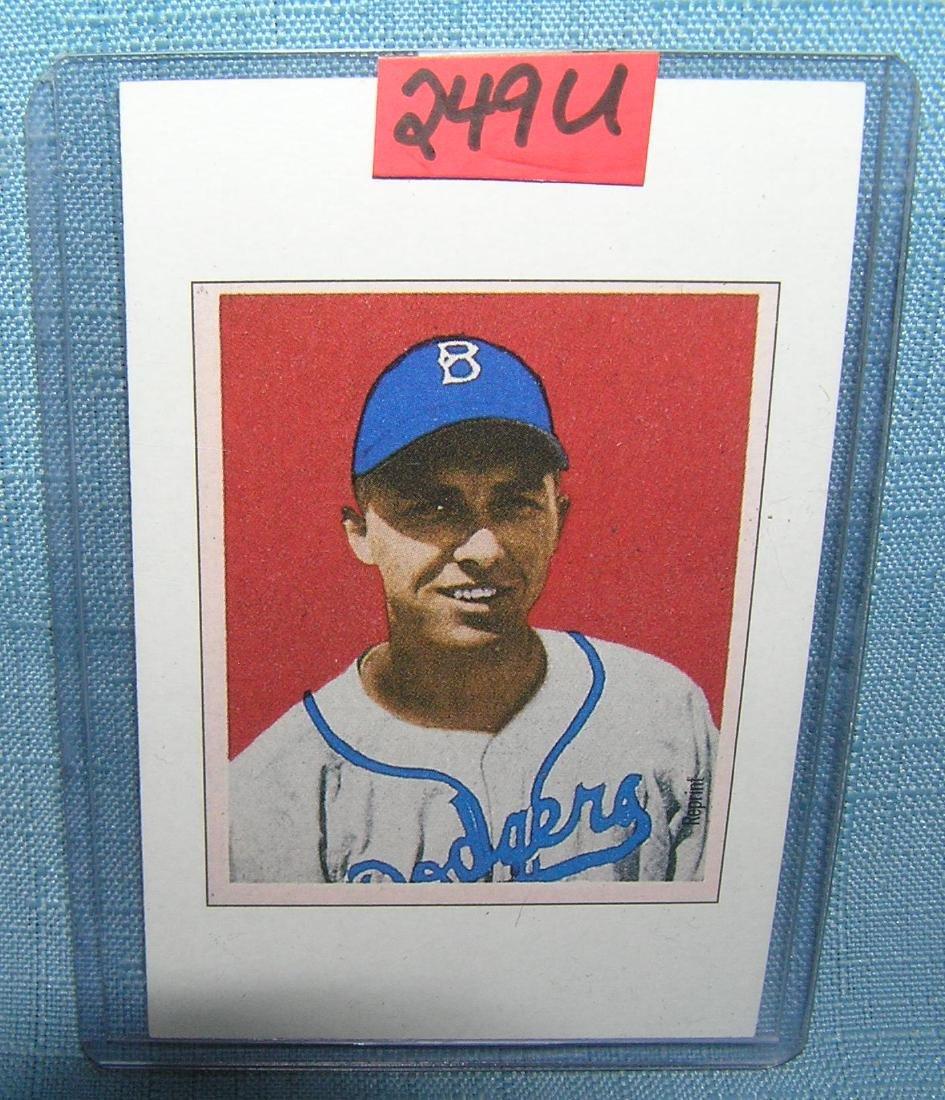 Gil Hodges all star baseball card