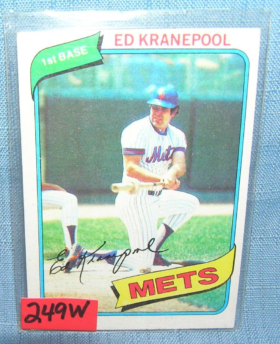 Ed Kranepool all star baseball card