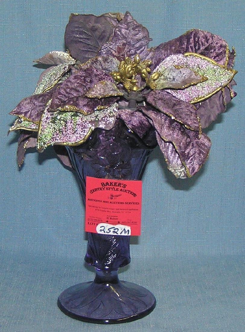 Vintage purple art glass vase
