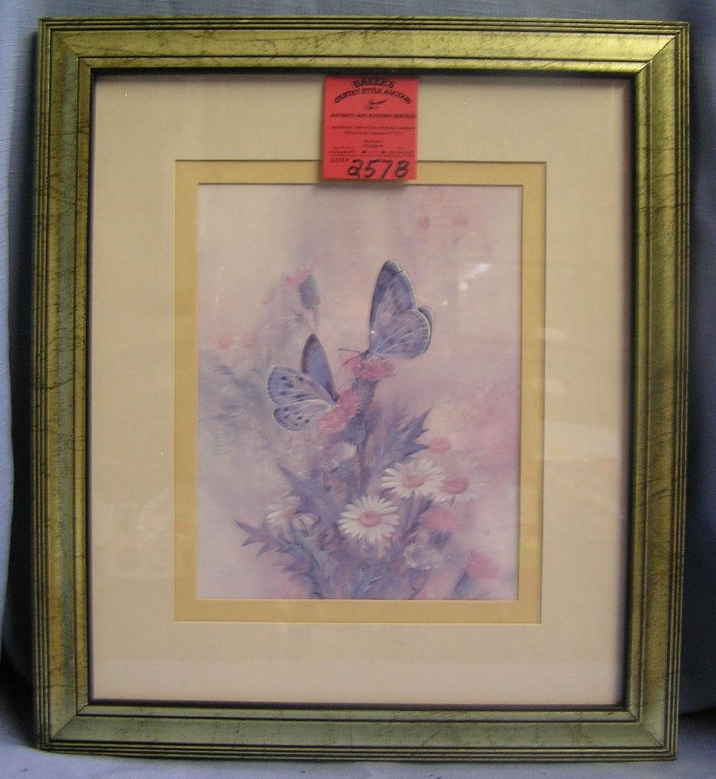 Quality butterfly and floral decorated print