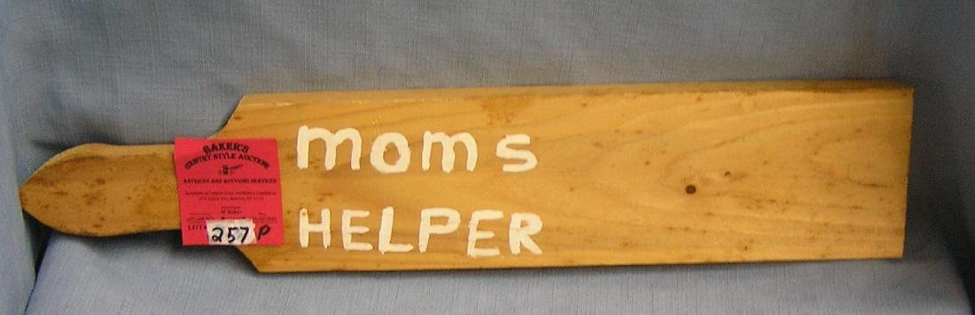 Mom's helper child's punishment paddle