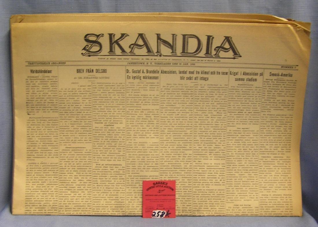 Group of vintage newspapers