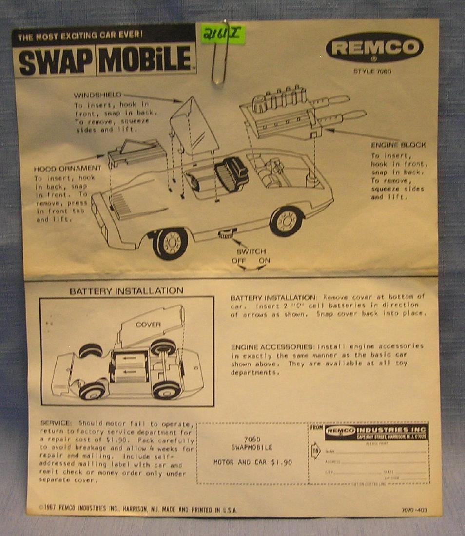 Remco Swap Mobile brochure dated 1967