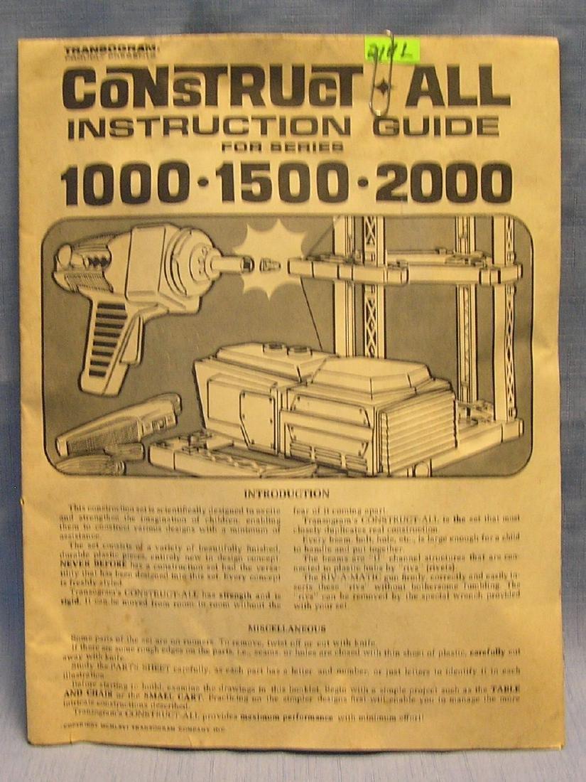 Trans-o-gram Construct All instruction guide
