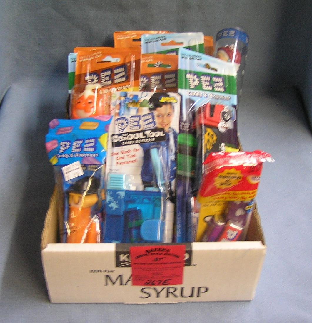 Box full of PEZ candy containers