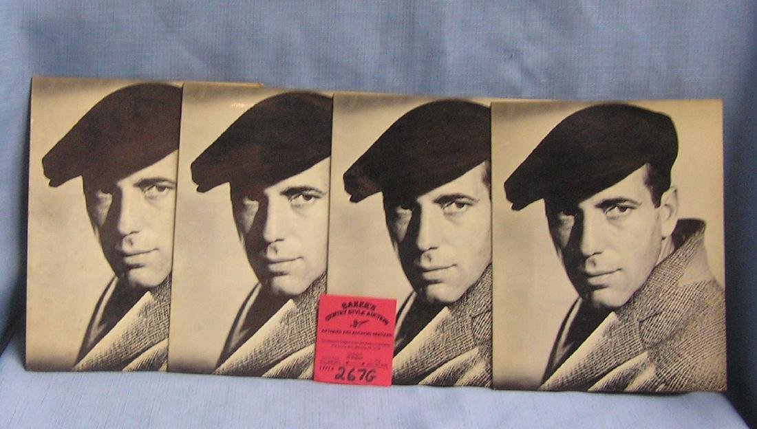 Vintage Humphrey Bogart greeting cards