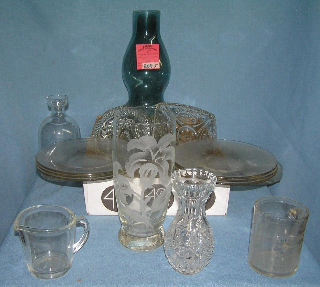 Large box full of estate glassware and crystal