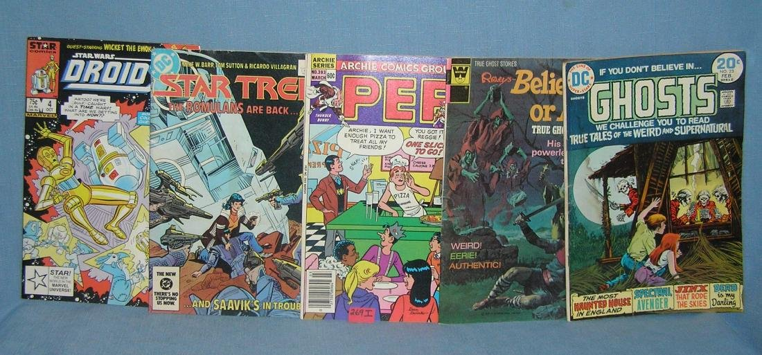 Group of 5 vintage comic books