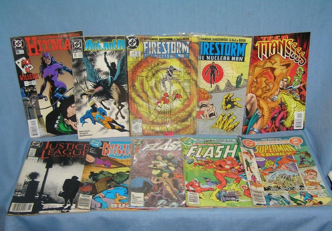 Group of 10 vintage DC comic books
