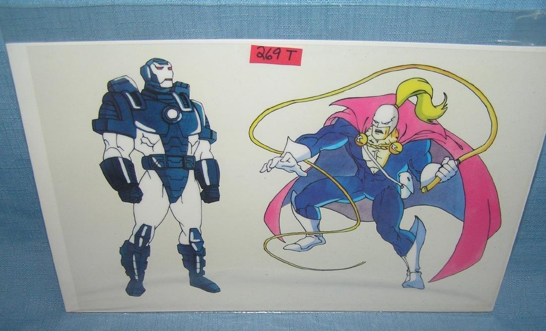Vintage Superhero comic character cell