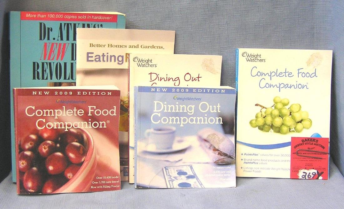 Group of cook books