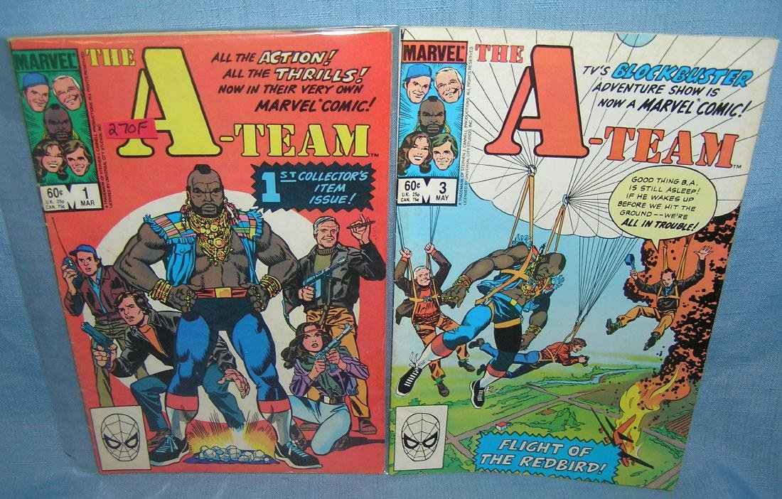 The A team issues 1 and 3 comic books